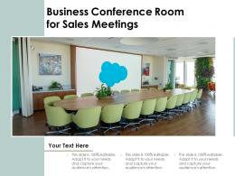 Business Conference Room For Sales Meetings