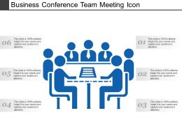 Business Conference Team Meeting Icon