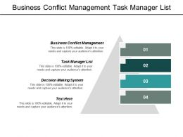 Business Conflict Management Task Manager List Decision Making System Cpb