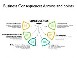 Business Consequences Arrows And Points