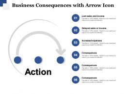 Business Consequences With Arrow Icon