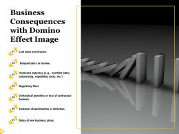 Business Consequences With Domino Effect Image