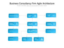 Business Consultancy Firm Agile Architecture
