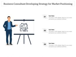 Business Consultant Developing Strategy For Market Positioning