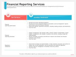 Business Consulting And Advisory Services Financial Reporting Services Ppt Inspiration Outfit