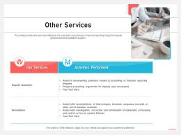 Business Consulting And Advisory Services Other Services System Ppt Visual Images