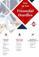 Business Consulting And Financial Advising Two Page Brochure Template