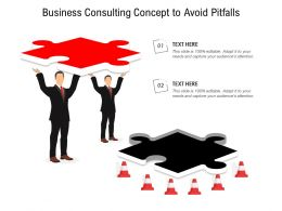 Business Consulting Concept To Avoid Pitfalls