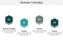 Business Consulting Ppt Powerpoint Presentation Model Visual Aids Cpb