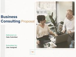 Business Consulting Proposal Powerpoint Presentation Slides