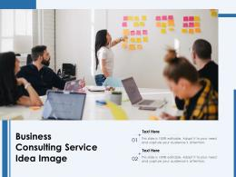 Business Consulting Service Idea Image