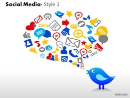 Business Consulting Social Media Image Slide Social Media Icons Bird Twitter Powerpoint Slide Template