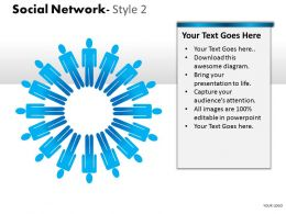 Business Consulting Social Network 3D Men In Circle Show Network Image Powerpoint Slide Template