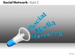 business_consulting_social_network_blue_loud_speaker_social_media_marketing_powerpoint_slide_template_Slide01