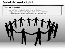 Business Consulting Social Network Business Executives Hand Black Network Powerpoint Slide Template