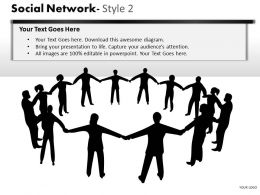 Business Consulting Social Network Business Executives Holding Hand Network Powerpoint Slide Template