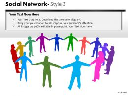Business Consulting Social Network Executives To Show Communication Network Powerpoint Slide Template