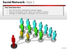 Business Consulting Social Network Leader Team Connection Communication Powerpoint Slide Template