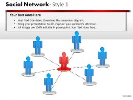 Business Consulting Social Network Leader Team Connection Over Network Powerpoint Slide Template