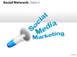 Business Consulting Social Network Loud Speaker Social Media Marketing Powerpoint Slide Template