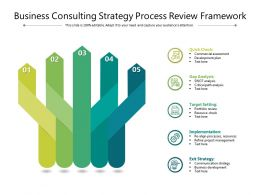 Business Consulting Strategy Process Review Framework