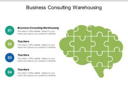 Business Consulting Warehousing Ppt Powerpoint Presentation File Outline Cpb