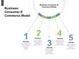 Business Consumer E Commerce Model Ppt Powerpoint Presentation Summary Skills Cpb