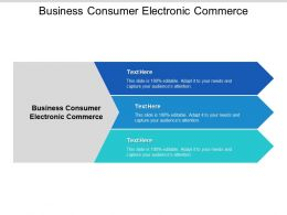 Business Consumer Electronic Commerce Ppt Powerpoint Presentation Slides Master Cpb