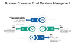 Business Consumer Email Database Management Ppt Powerpoint Presentation Portfolio Background Images Cpb