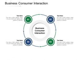Business Consumer Interaction Ppt Powerpoint Presentation Infographics Outline Cpb