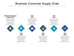 Business Consumer Supply Chain Ppt Powerpoint Presentation Model Outfit Cpb