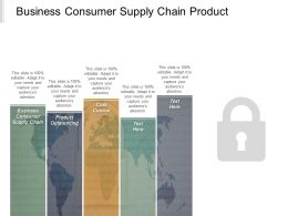 Business Consumer Supply Chain Product Outsourcing Cost Control Cpb