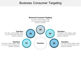 Business Consumer Targeting Ppt Powerpoint Presentation Model Visuals Cpb