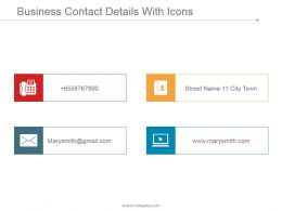 Business Contact Details With Icons Ppt Background Images