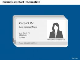 Business Contact Information Flat Powerpoint Design