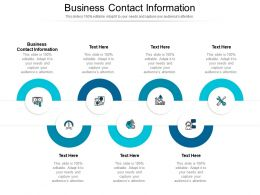 Business Contact Information Ppt Powerpoint Presentation File Gridlines Cpb