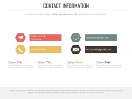 Business Contact Information Slide With Tags Powerpoint Slides