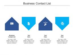 Business Contact List Ppt Powerpoint Presentation Ideas Slides Cpb