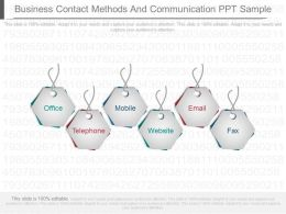 Business Contact Methods And Communication Ppt Sample