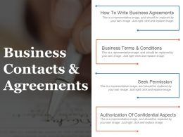 Business Contacts And Agreements Powerpoint Images