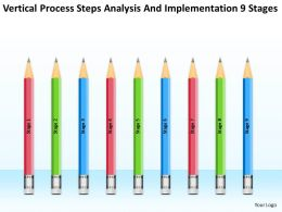 Business Context Diagram Process Steps Analysis And Implementation 9 Stages Powerpoint Templates