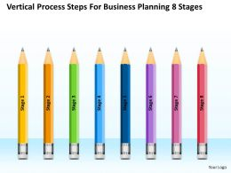 Business Context Diagram Vertical Process Steps For Planning 8 Stages Powerpoint Templates