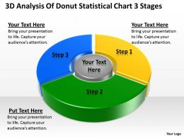 Business Context Diagrams 3d Analysis Of Donut Statistical Chart Stages Powerpoint Templates