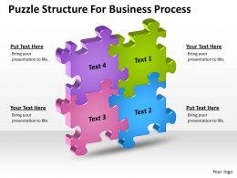 Business Context Diagrams Puzzle Structure For Process Powerpoint Slides 0523