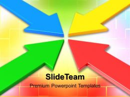 Business Context Presentation Templates Colored Arrow Ppt Slides Powerpoint