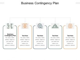 Business Contingency Plan Ppt Powerpoint Presentation Show Example Cpb