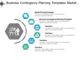 Business Contingency Planning Templates Market Pricing Strategies Projects Management Cpb