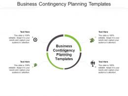 Business Contingency Planning Templates Ppt Powerpoint Presentation Gallery Shapes Cpb