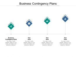 Business Contingency Plans Ppt Powerpoint Presentation Styles Sample Cpb