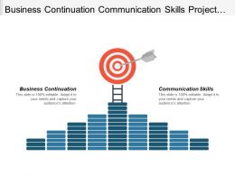Business Continuation Communication Skills Project Milestones Project Management Cpb